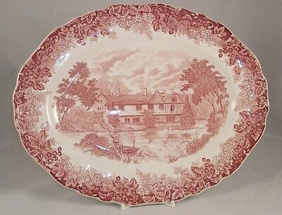 JG Meakin ROMANTIC ENGLAND Oval Platter GOOD CONDITION 12""