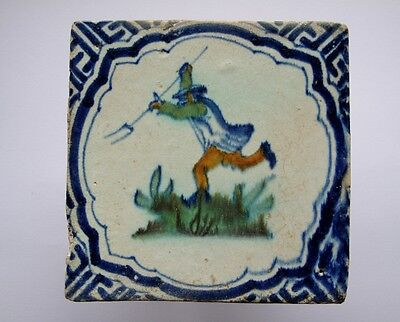 An Authentic Dutch Delft tile with an angry farmer......