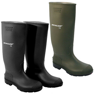 Dunlop Mucker Rubber Wellingtons Mens Ladies Boys Wellies Snow Boots Shoes New