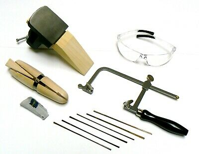 Jewelry Making Kit Saw Frame Bench Anvil Ring Clamp 72 Blades Make Jewelry +++