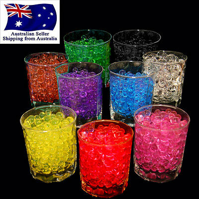 10g Crystal Soil Water Pearls Jelly Balls Beads Wedding Decoration Vase Filler