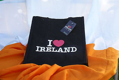 """ I LOVE IRELAND"" Jute Bag, klein"