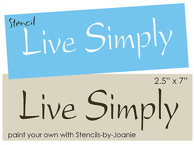 Primitive Block STENCIL Live Simply Country Family Home Decor Small Sign U Paint