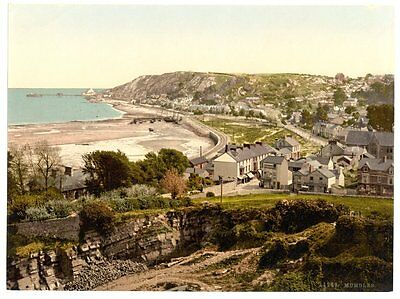 LARGE OLD PHOTOGRAPH/PHOTO OF Mumbles, General view, Wales SUPERB