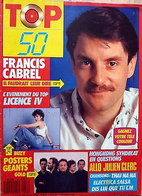 TOP 50 1987: FRANCIS CABREL_JEANNE MAS_GOLD_Julien CLERC_HONG KONG SYNDICATE_OFF