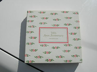 Avon Representatives Fifth Anniversary Plate Vintage In Box With Card