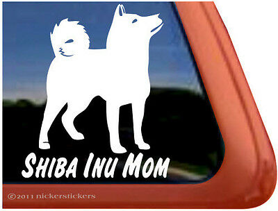SHIBA INU MOM ~  High Quality Vinyl Dog Auto Window Sticker Decal