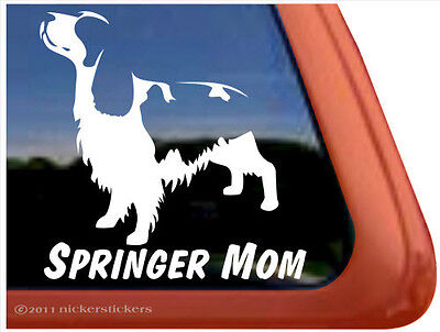 SPRINGER MOM ~  High Quality English Springer Spaniel Dog Window Sticker Decal