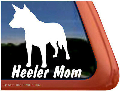 HEELER MOM ~ High Quality Vinyl Australian Cattle Dog Window Decal Sticker