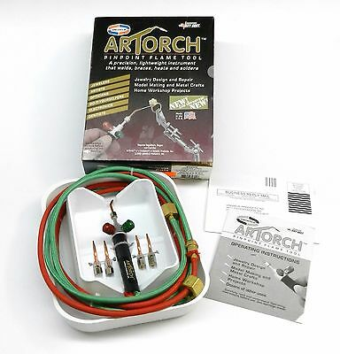 Artorch Little Torch Uniweld Torch Metalcrafts Kit w/ 5 Tips Jewelry Soldering