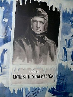 Knight Sir Ernest H Shackleton Explorer South Pole Touring Banner Poster