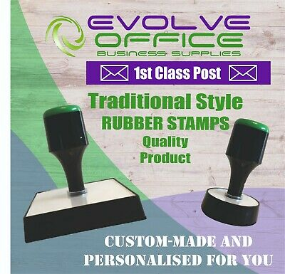 Personalised Ruber Stamp - Traditional Style Lots of Sizes & FREE 1st Class Post