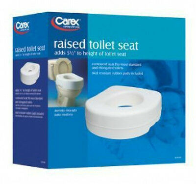 Raised Toilet Seat Elevated Carex Elevator White Standard Elongated Safety B3100