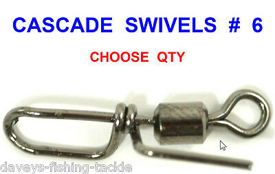 Cascade Rolling Swivels For Sea Fishing Line Bait Clips Impact Rigs Fast Links