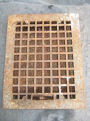 "Vintage Heat Grate Grill Vent Register Antique 10.75 x 14"" # 206-11"