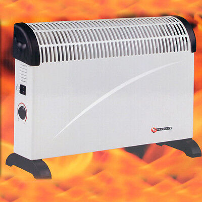 2000W Portable Electric Thermostat Convector Heater Winter 2Kw Wall Mounted