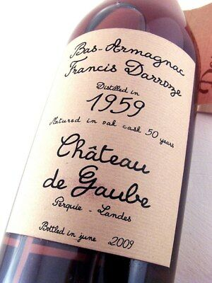 1959 DARROZE Bas Armagnac Chateau De Gaube 700ml FREE DELIVERY Isle of Wine