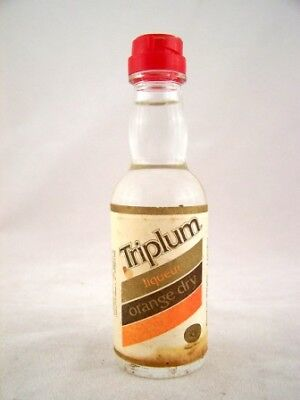 Miniature circa 1976 Triplum Dry Orange Liqueur Isle of Wine