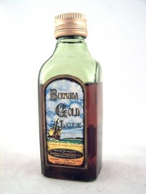 Miniature circa 1977 Bermuda Gold Liqueur Isle of Wine