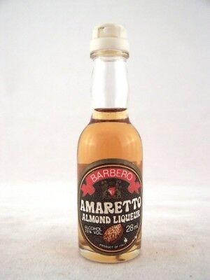 Miniature circa 1983 Barbero Amaretto Almond Liqueur Isle of Wine