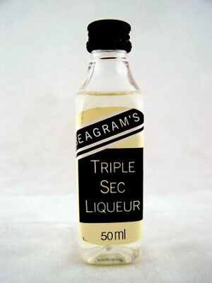 Miniature circa 1982 Seagrams Triple Sec Liqueur Isle of Wine