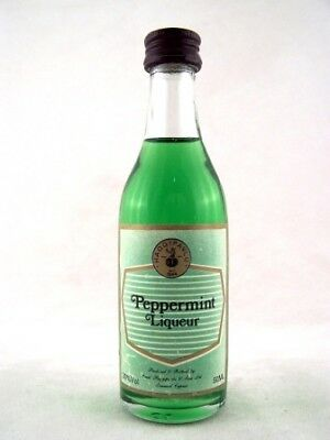 Miniature circa 1978 Haggipavlu Peppermint Liqueur Isle of Wine