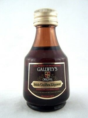 Miniature circa 1988 Gallwey's Irish Coffee Liqueur Isle of Wine