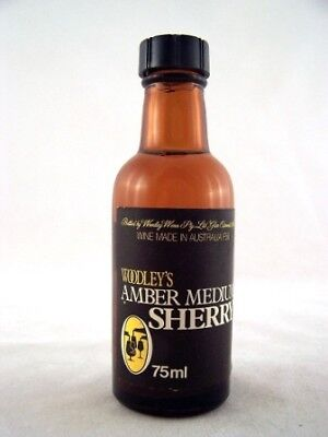 Miniature circa 1975 Woodleys Amber Medium Sherry Isle of Wine