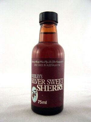 Miniature circa 1975 Woodleys Silver Sweet Sherry Isle of Wine