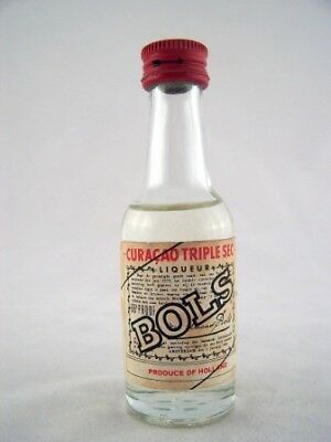 Miniature circa 1972 Bols Curacao Triple Sec Isle of Wine