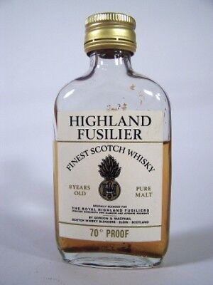 Miniature circa 1969 Highland Fusilier Malt Whisky Isle of Wine