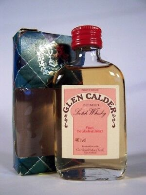 Miniature circa 1969 Glen Calder Whisky Isle of Wine