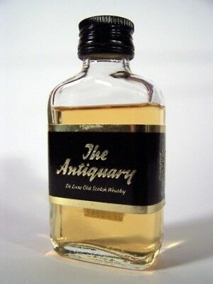 Miniature circa 1972 The Antiquary De Luxe Whisky Isle of Wine