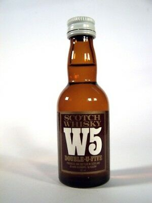 Miniature circa 1976 W5 Double-U-Five Whisky Isle of Wine