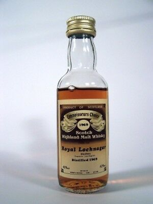 Miniature Dated 1969 Royal Lochnagar Whisky Isle of Wine