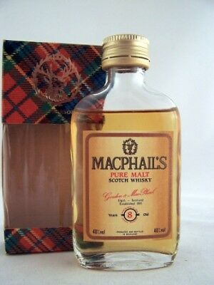 Miniature circa 1969 MACPHAILS 8yo Malt Whisky Isle of Wine