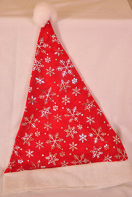 NWT! FUN CANDY CANE SANTA HAT ADJUSTABLE RETAILS FOR $6.99