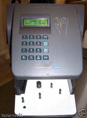 HANDPUNCH 2000  HAND PUNCH TIME CLOCK HP-2000 HP-2000(RS232) Schlage Biometric