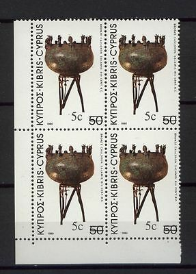 Cyprus 1983 SG#611 5c On 50m Archaeological Treasures MNH Block
