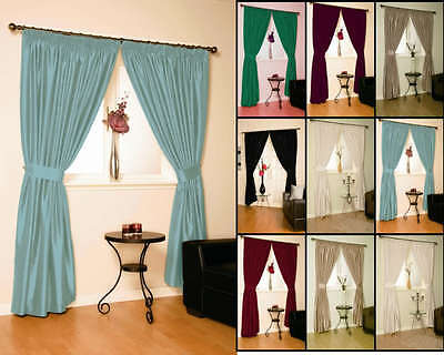 """""""Solar"""" Thermal Blackout Lined Curtains Ready Made For Winter"""