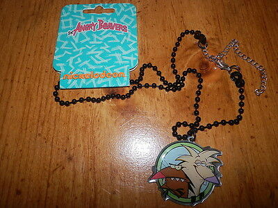 Nwt Angry Beavers Norbert Daggett Necklace  From Hot Topic From 2010