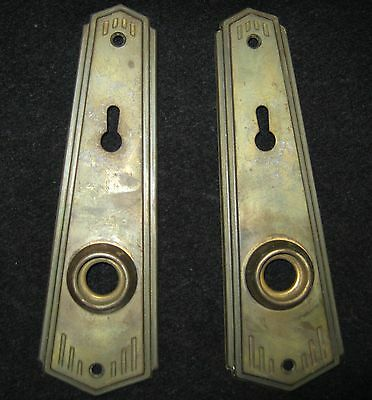 Pair Antique Back Plates Metal #253-11