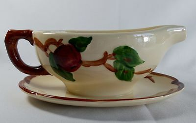 Franciscan Apple-Made in the US Gravy Boat with Attached Underplate