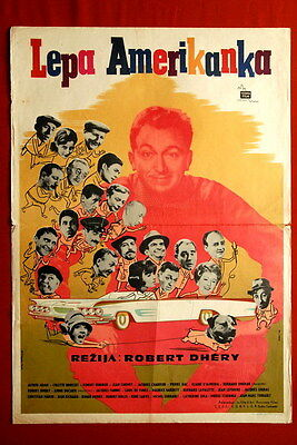AMERICAN BEAUTY FRENCH DHERY ALFRED ADAM DE FUNES 1961 EXYU MOVIE POSTER