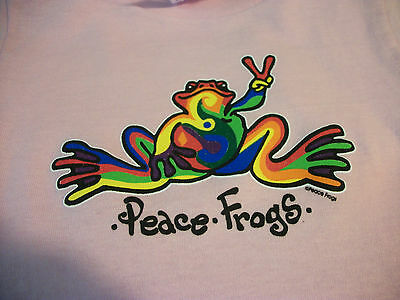 Peace Frogs Pink Retro Toddler 2T T-Shirt