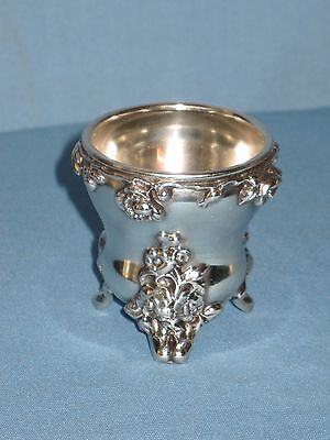 Antique Barbour Quadruple Silver Egg Cup Toothpick Footed Holder Ca 1885