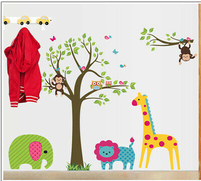 1.8 M High Green Tree & Birds in 2 Themes Wall Art Decal for Home or Business