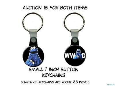 What Would Cookie Monster Do Sesame Street set of 2 Key Chains