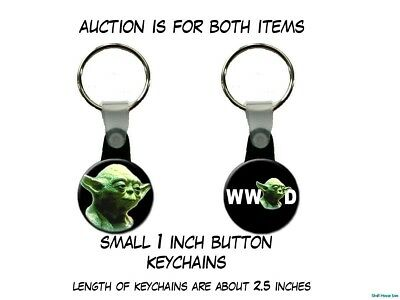 Star Wars What Would Yoda Do Jedi Master Yoda set of 2 Key Chains