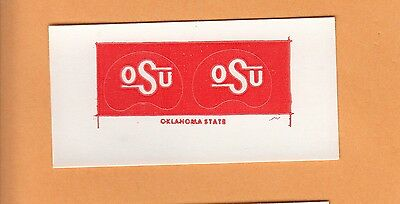 1970s OKLAHOMA STATE COWBOYS SMALL FOOTBALL GUMBALL HELMET DECALS